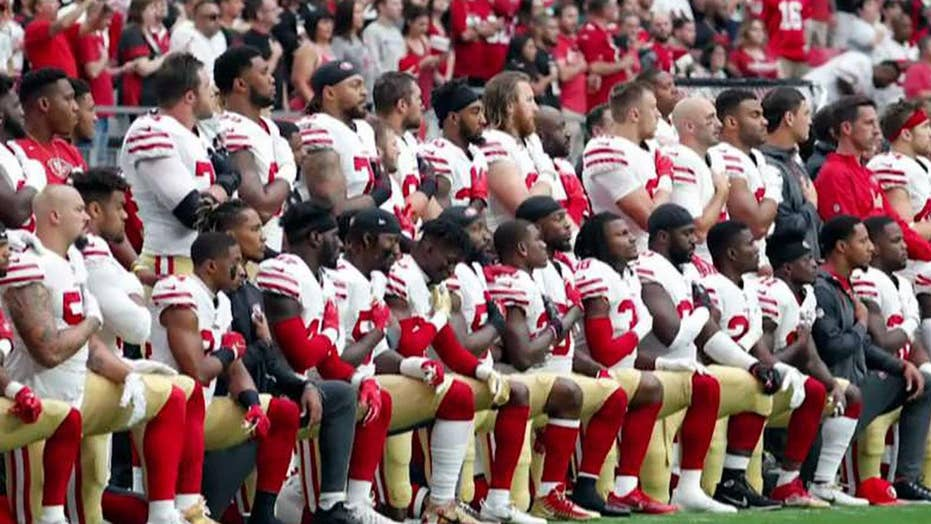 NFL players from six teams protest during national anthem