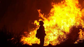 Firefighters are gaining ground on the arson-sparked Holy Fire in California.