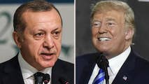 Turkish President Erdogan says his country is under economic siege and that the U.S. is stabbing his country in the back; Rich Edson reports from the State Department.