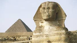 A mysterious sphinx has been discovered during roadwork in the Egyptian city of Luxor.