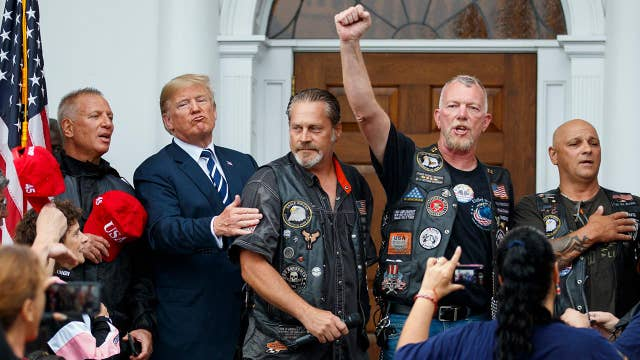 Bikers for Trump meet with president in New Jersey