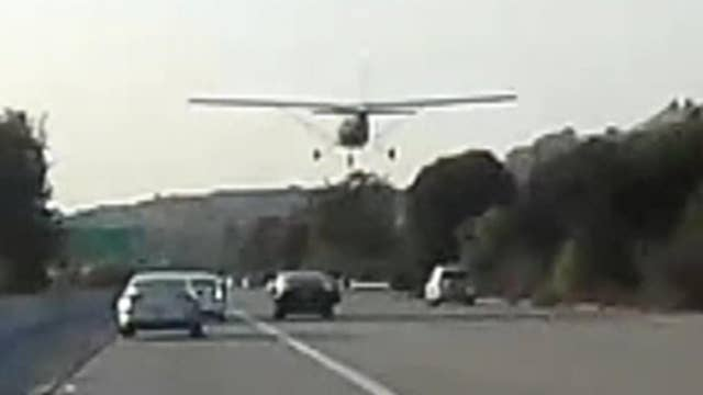 Plane makes emergency landing on California highway