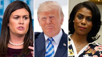 White House press secretary Sarah Sanders says former White House aide Omarosa Manigault Newman has shown a 'complete lack of integrity.'