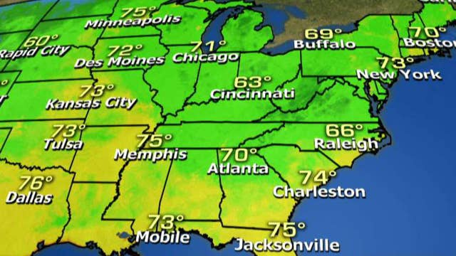 National forecast for Tuesday, August 14