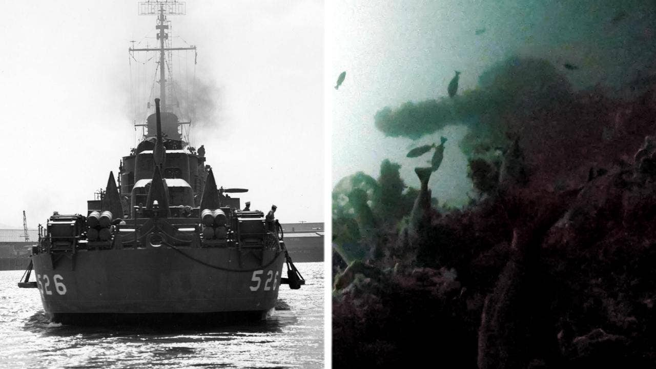 Stern of US WW II destroyer discovered near remote Alaskan island: Survivor recounts harrowing day