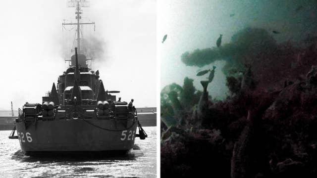 World War II-era destroyer's stern found off Alaskan island