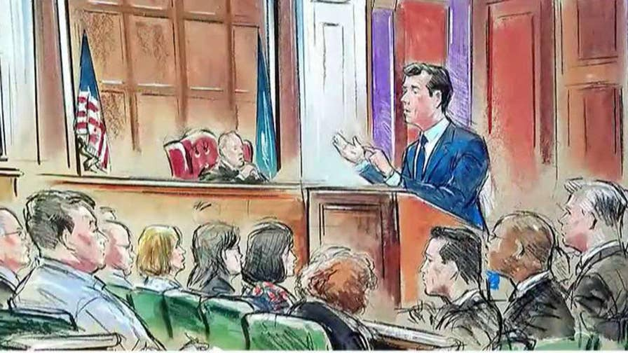 The jury will decide the fate of President Trump's former campaign chair Paul Manafort, charged with 18 counts of tax evasion and bank fraud; chief intelligence correspondent Catherine Herridge reports from Alexandria, Virginia.