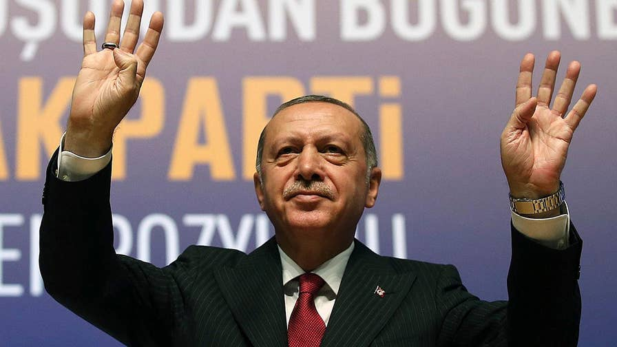 Ankara doubles down on tariffs on U.S. imports amid a currency crisis and tensions over the country's refusal to release American Pastor Andrew Brunson; Rich Edson reports from the State Department.