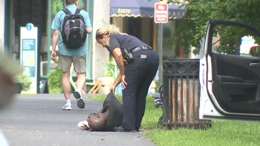 Raw video: Crews respond after more than 30 people overdosed on what is believed to have been synthetic marijuana.