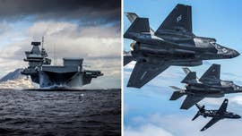 Britain's largest-ever warship, the HMS Queen Elizabeth, is joining forces with the American-made most powerful stealth fighter jets in the world.