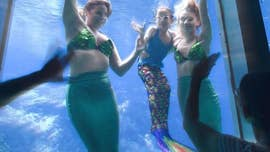 A 6-year-old girl's dream to swim with mermaids came true on Tuesday after she was flown from her home in Ohio to Florida, where she was able to join the Weeki Wachee Springs mermaids in the water.