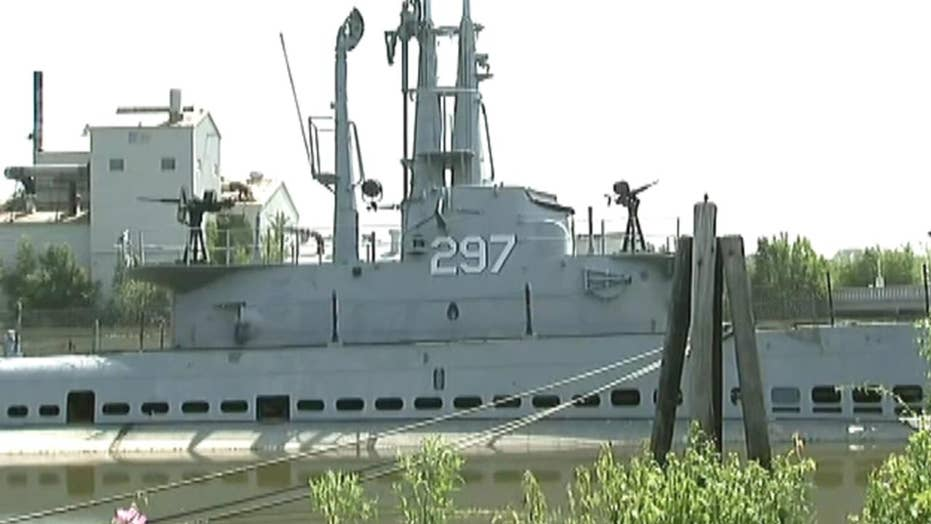 Vandals flood WWII-era submarine