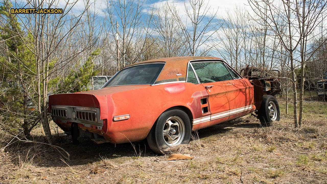 Little Red 1967 Ford Mustang Shelby Gt500 Found After 50 Years 1961 Econoline Parts Could Be Worth Millions Fox News