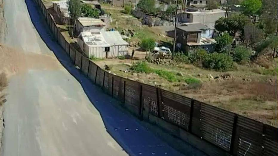 Border wall construction progresses in New Mexico