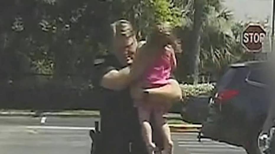 Florida deputy rescues child from hot car