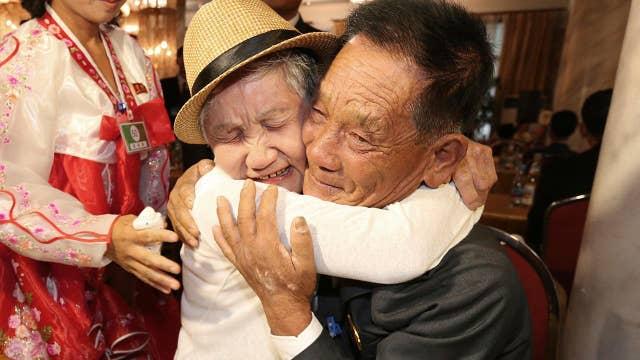 Korean families divided by war reunite in North Korea