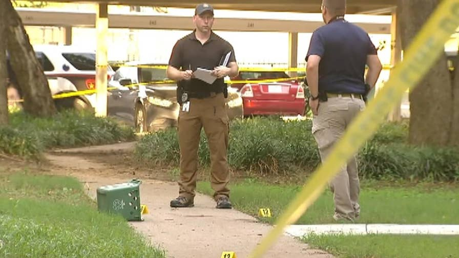 Lewisville police say incident happened at Oak Forest Apartments in Lewisville, Texas.