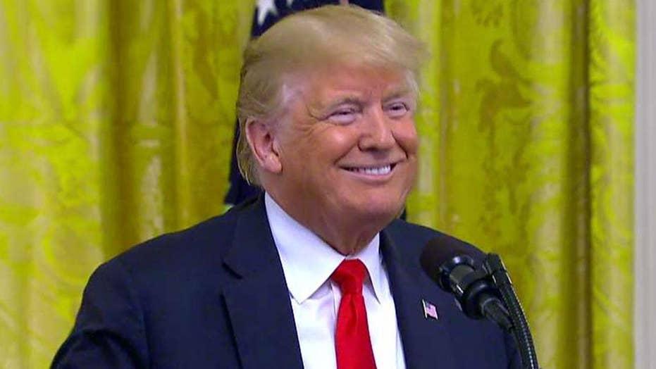 Trump salutes 'heroes of immigration enforcement'