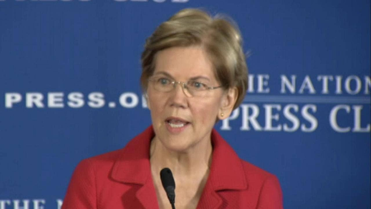 Elizabeth Warren proposes ban on lawmakers owning individual stocks, in fiery sp...