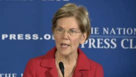 Democratic Sen. Elizabeth Warren, in a fiery speech Tuesday, announced legislation to prohibit lawmakers and other officials from owning or trading stocks -- and impose a lifetime ban on members of Congress being hired as lobbyists once they leave office.