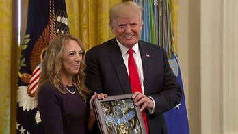 President Trump posthumously awards the Medal of Honor to Sgt. John Chapman for heroism in Al Qaeda firefight.