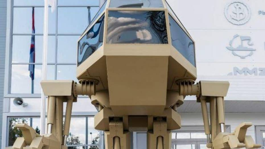 Russian weapons company reveals 'gold killer robot'