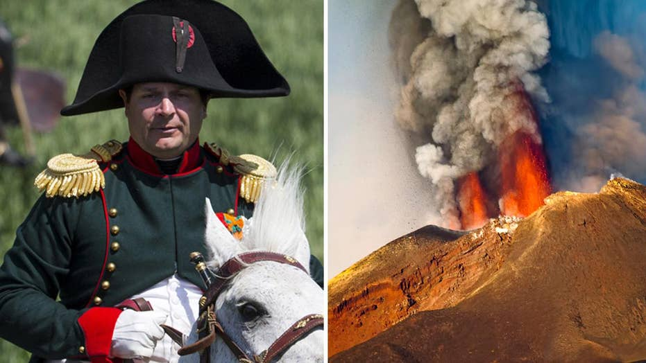 Volcanic eruption may have led to Napoleon's Waterloo defeat