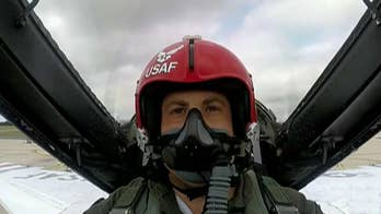 Todd Piro takes flight with the U.S. Air Force Thunderbirds.