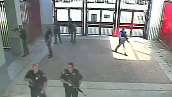 Videos do not show incident where police officers allege Broward County deputies were taking cover instead of storming the school; Phil Keating reports from Florida on the footage.