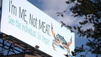 PETA billboard in Maryland encourages people to 'go vegan,' stop eating crabs