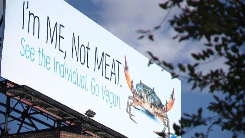 PETA billboard urges Baltimore residents not to eat crab