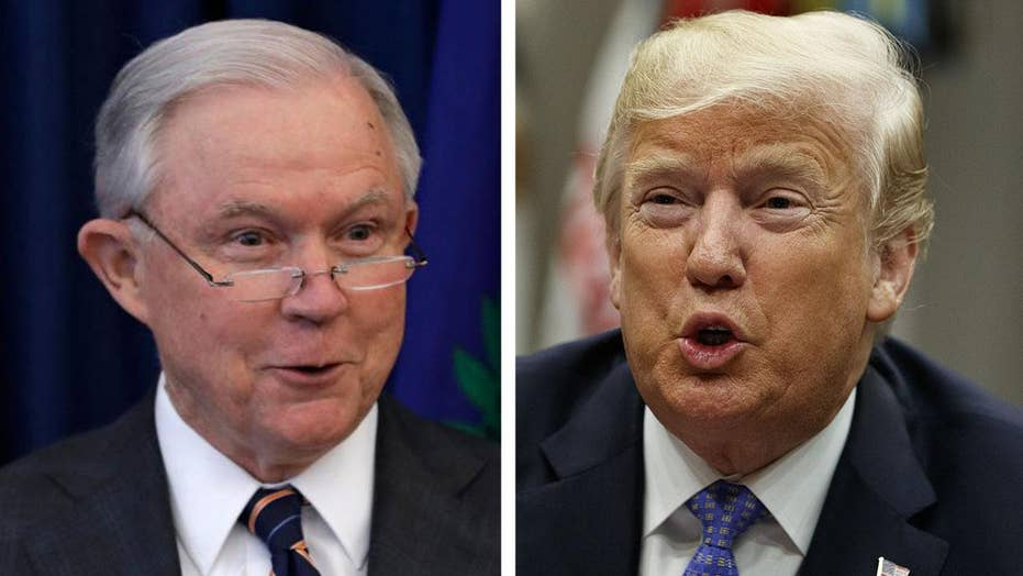 Trump publicly spars with Attorney General Sessions