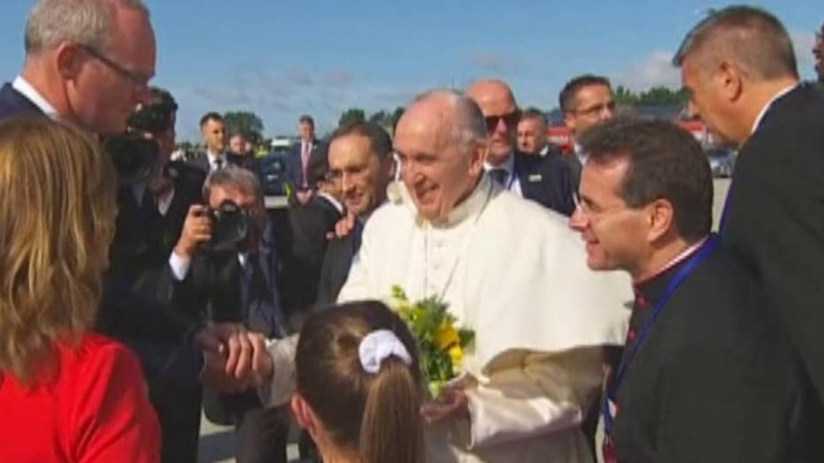 Pope Francis arrives in Ireland for historic two day visit