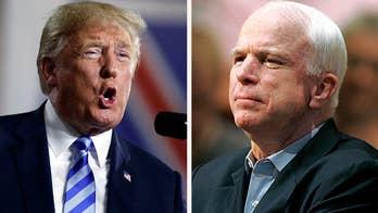 Trump decided against White House statement praising McCain