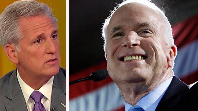 Rep. McCarthy: Few leaders have sacrificed as much as McCain