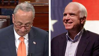 Senate Minority Leader Chuck Schumer honors Sen. John McCain on the Senate floor.