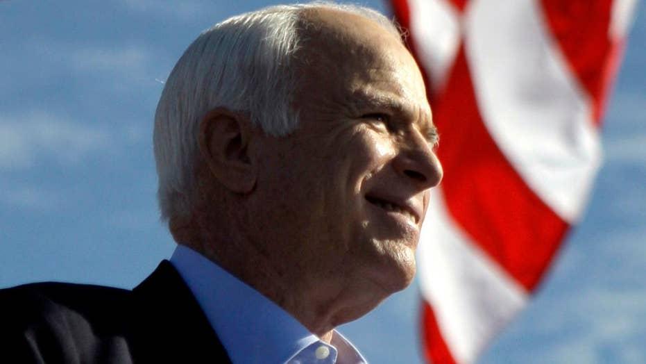 Family spokesman reads farewell letter from John McCain