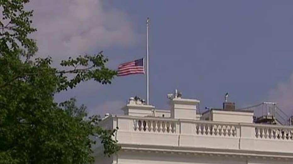 American flag at White House back at half-staff