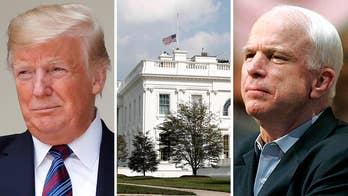 Trump honors John McCain's service, orders flags lowered