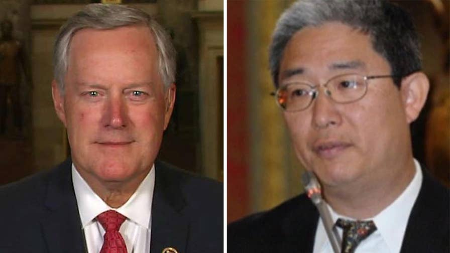 Republican member of the House Oversight Committee Mark Meadows says he has 'about 60 questions' for the DOJ official about his connection to the anti-Trump dossier, says the integrity of the FBI and the Department of Justice are at stake.