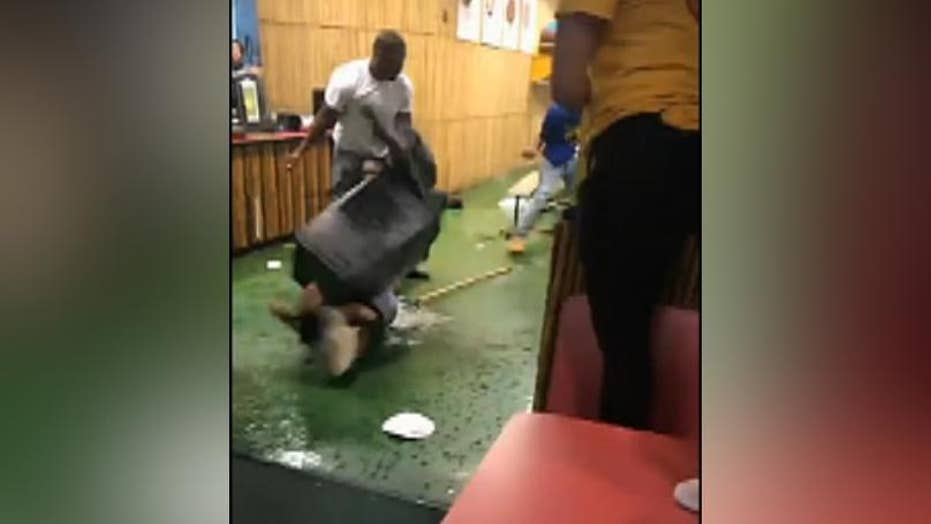 Dramatic video: Fight breaks out at children's restaurant