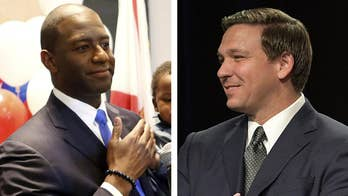 After Andrew Gillum's surprise victory in the Democratic gubernatorial primary, battleground Florida is a proxy Donald Trump vs. Bernie Sanders showdown; Phil Keating reports from Orlando.