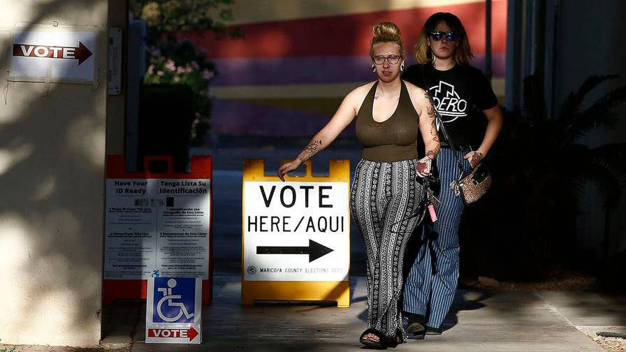 Reps. Martha McSally and Kyrsten Sinema won Tuesday's U.S. Senate primaries in Arizona and will face off in November to succeed retiring Republican Sen. Jeff Flake; Peter Doocy reports from Tempe.