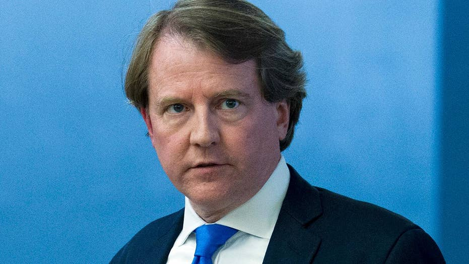 White House counsel McGahn to leave this fall
