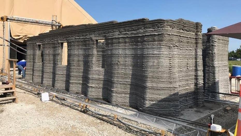 Marine Corps 3D print 500-square-foot concrete barrack