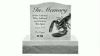 Organization asking state to erect memorial site for lobsters killed in truck accident.