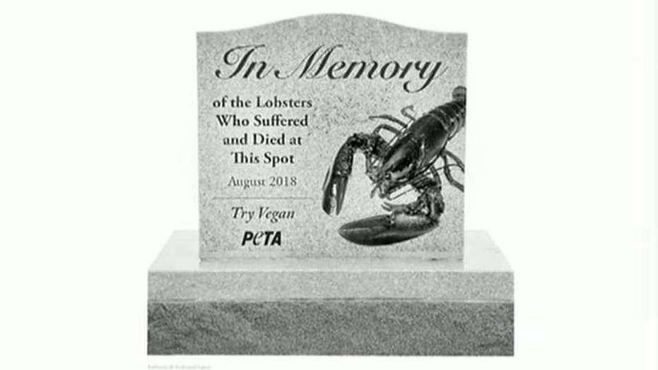 PETA wants monument for lobsters killed in Maine