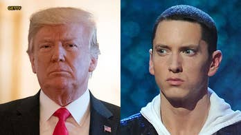 After releasing a new surprise album, titled 'Kamikaze,' Eminem appeared to reignite his feud with President Trump, with some of his new songs taking jabs at the commander in chief.