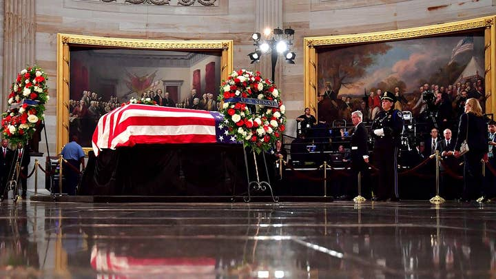 Senate and House members pay respects to John McCain