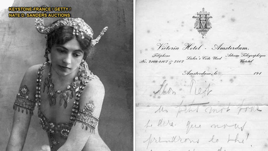 World War I spy Mata Hari's letters to lover sell at auction